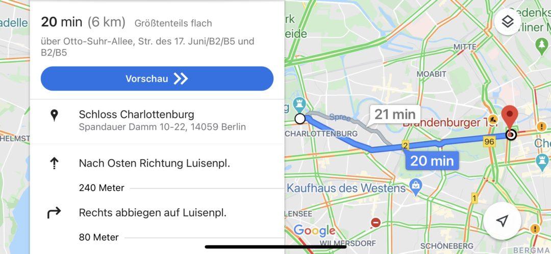 Google Maps Routenplaner Fahrrad
