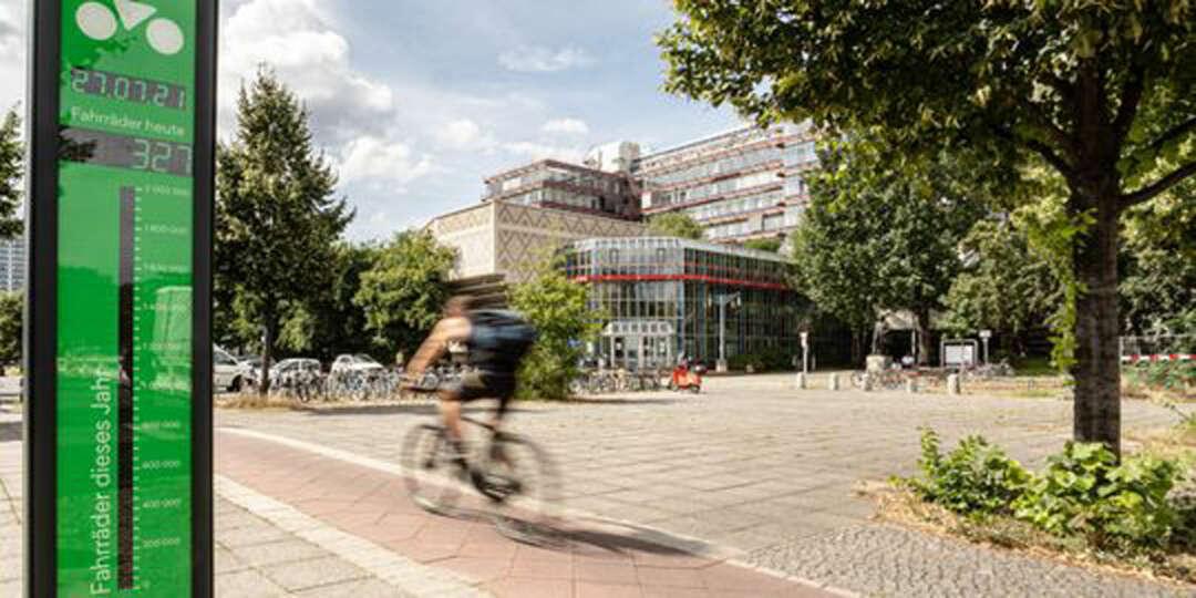 Fahrradbarometer in Berlin